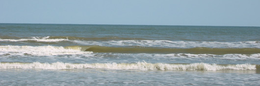 the calm waves of the Gulf of Mexico