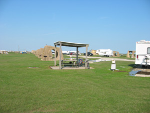 Galveston Park Campground view